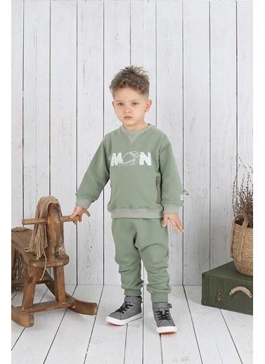 Nila Kids Koyu Yeşil Rengi Erkek Bebek Moon Organik Sweat NK08009KY (1 YAş- 5 YAş) Renkli